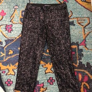 Antik Batik Pants - Antik Batik Cropped Black Sequin pants